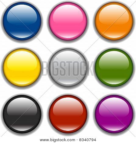 Vector button icon, samples