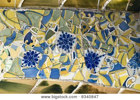Barcelona, mosaics in the parc guell