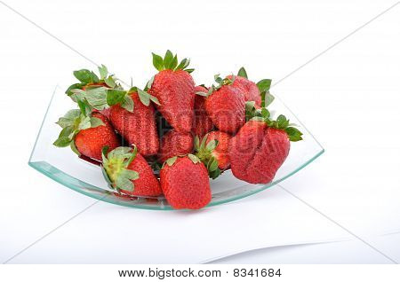 Strawberries In Glass Bow