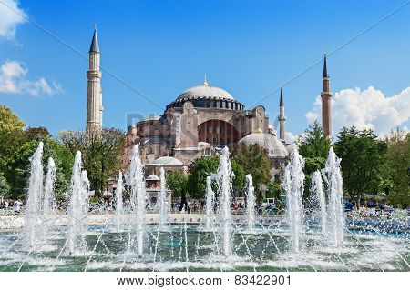 Hagia Sophia in Istanbul Turkey. Hagia Sophia is the greatest monument of Byzantine Culture. poster