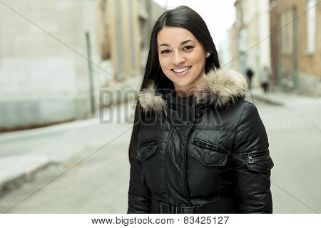 winter outside woman
