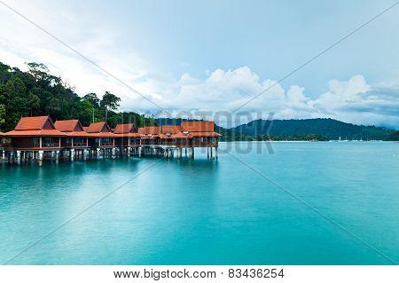 Luxury hotel bungalows