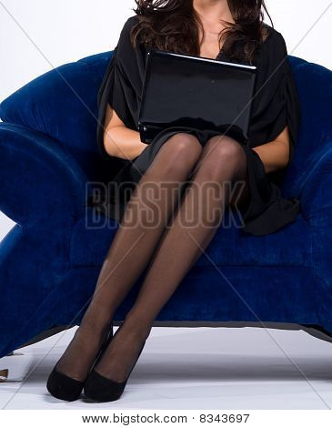 Secretary With Laptop