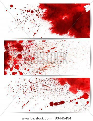 Set of backgrounds with eight highly detailed bloodstain