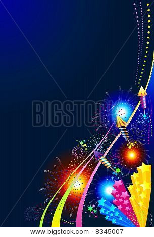 Fireworks celebration background