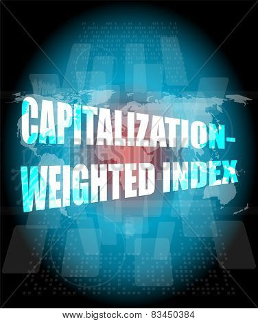 Capitalization Weighted Index Words On Touch Screen Interface
