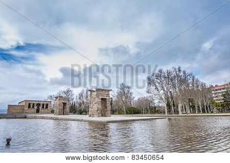 The Temple Of Debod In Madrid, Spain.