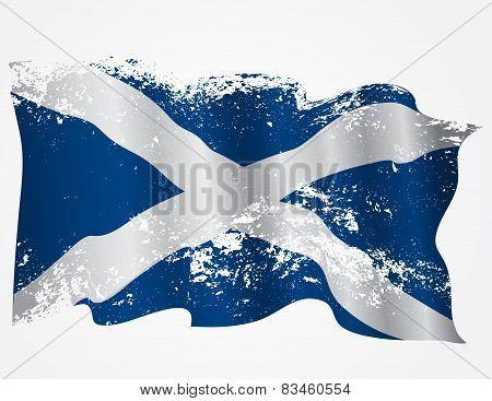 Scotland Or Scottish Grunge Flag