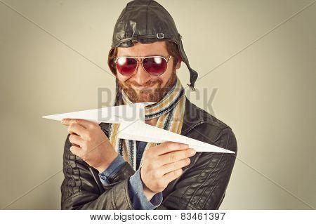 Aviator Man Paper Plane