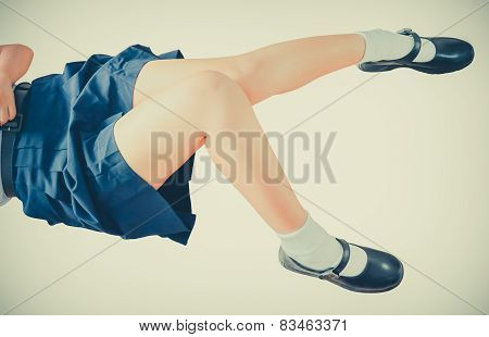 Thai School-girl Leg And Thigh Isolation