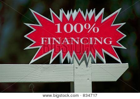 100% Financing Real Estate Sign