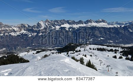 Ski Area Flumserberg And Churfirsten