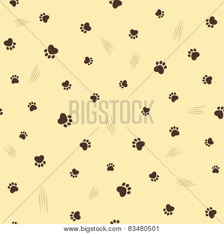 Cat theme seamless background