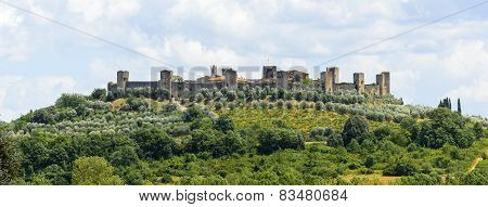 Monteriggioni (Siena Tuscany Italy) historic fortificated town poster