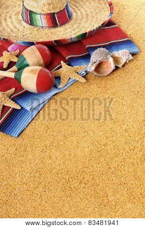 Mexican Or Spanish Beach Background