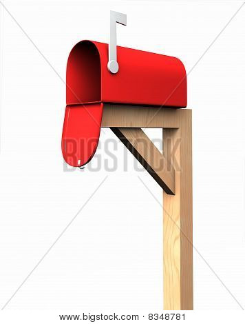 Mailbox, isolated