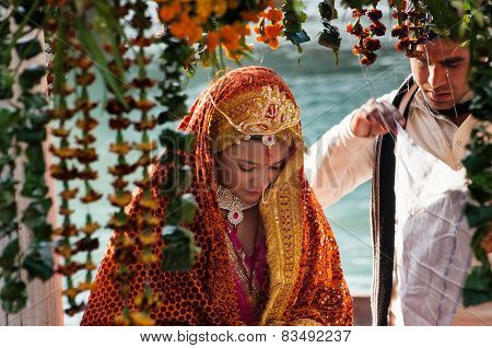 The Bride In A Traditional Indian Wedding