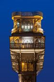 The Santa Justa Lift also called Carmo Lift is an elevator in Lisbon poster