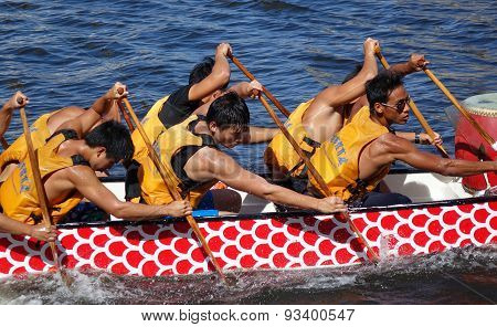 Training For The Dragon Boat Races