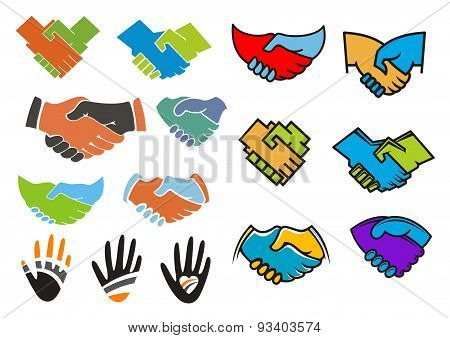 Colorful partnership and friendship symbols