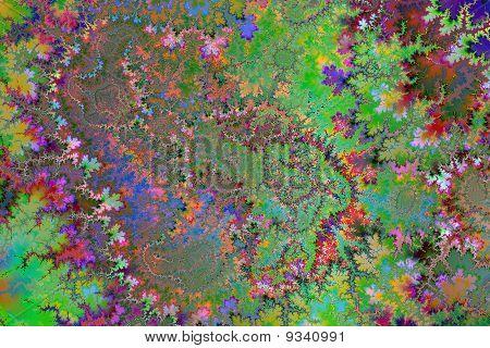 Colored Trodden Leaves