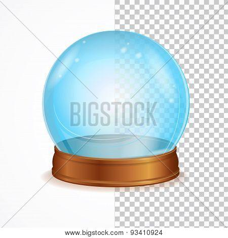 Vector empty blue crystal ball