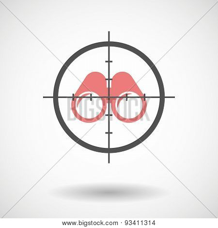 Crosshair Icon Targeting A Binoculars