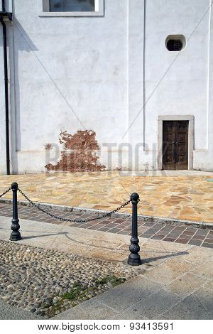 Street Santo Antonino Lombardy  Of A Curch And Marble