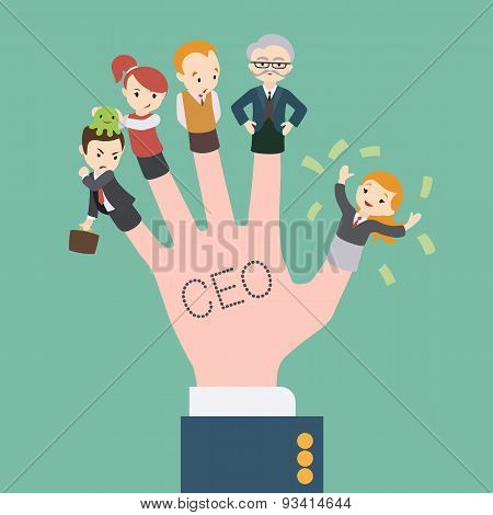 The hand with the CEO inscription