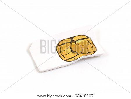 Broken Used Mobile Phone Sim Card