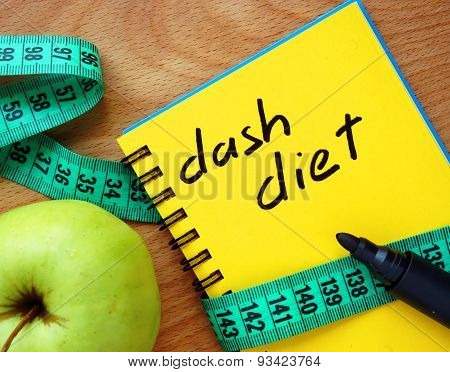 Notepad with dash diet