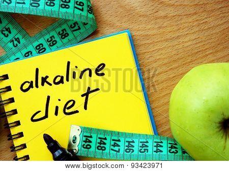 Notepad with alkaline diet