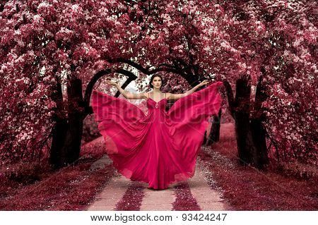 Maleficent Pink Princess, Sexy woman with beuatiful dress