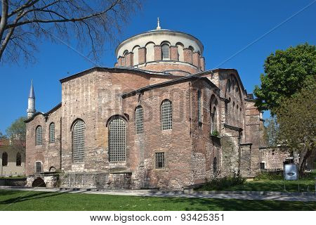 Church of St. Irene in the park of Topkapi Palace. Istanbul. Turkey.