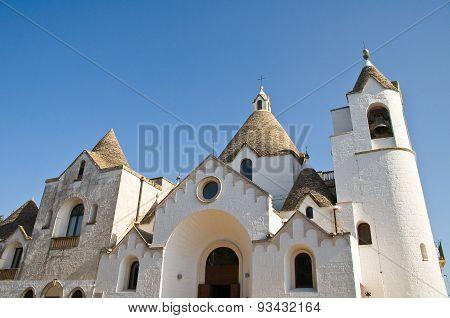 St. Antonio Trullo Church. Alberobello. Puglia. Italy.