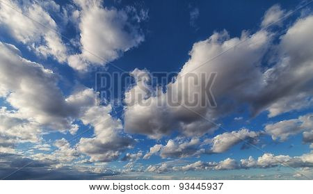 Dramatic Sky With Large Clouds For Background