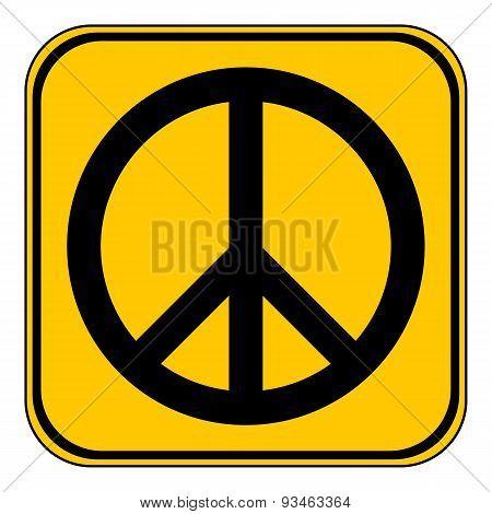 Peace Symbol Buttom.