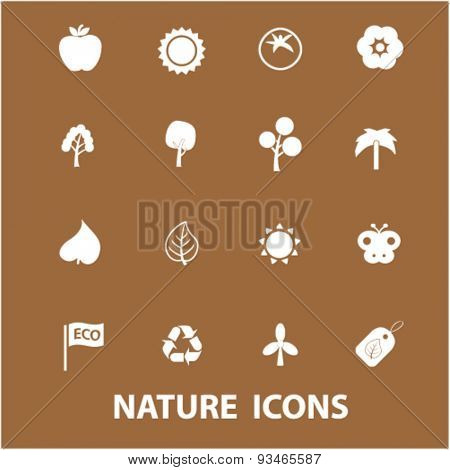 nature icons, vector