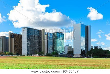 BRASILIA, BRAZIL - CIRCA MARCH 2015: Commercial buildings in Brasilia, Brazil.
