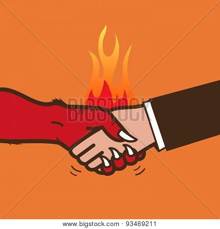 Handshake with the devil