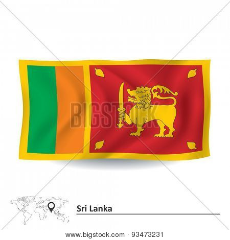 Flag of Sri Lanka - vector illustration