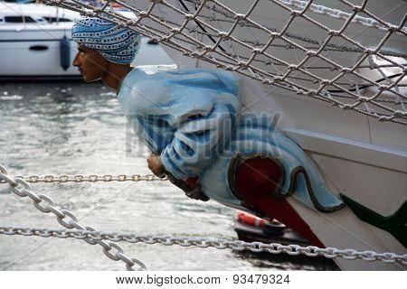 Figurehead men on a ship