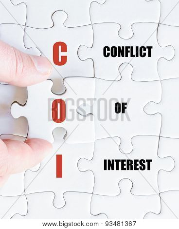 Last Puzzle Piece With Business Acronym Coi