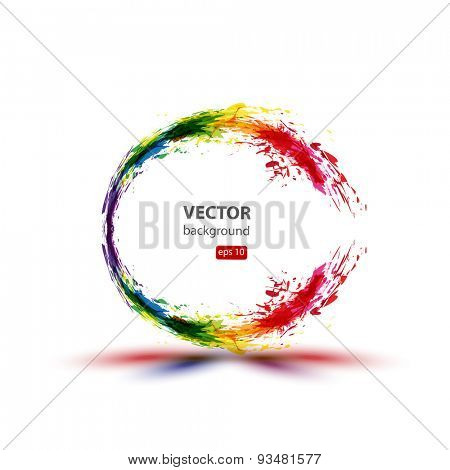 Ink abstract background  easy editable