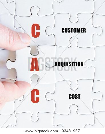Last Puzzle Piece With Business Acronym Cac