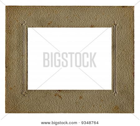 vintage picture frame with white inner