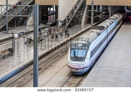 Train In Zaragoza Delicias Station