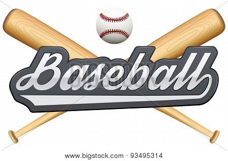 Vintage baseball label and badge