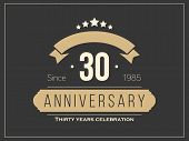 Thirty years anniversary celebration logotype. 30th anniversary logo. poster