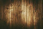 Dark Brown Vintage Wood Planks Background. Reclaimed Wood Backdrop. poster